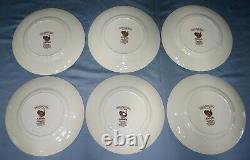 Set of 6 Vtg Johnson Brothers BARNYARD KING Dinner Plates 10 3/4 Turkey England