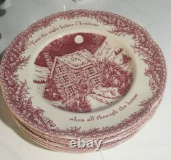 Set of 7 JOHNSON BROTHERS TWAS THE NIGHT BEFORE CHRISTMAS Dinner Plates NEW