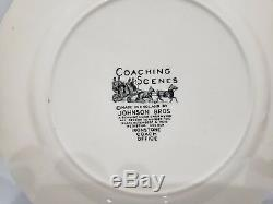 Set of 9 Johnson Brothers COACHING SCENES-BLUE Salad Plate