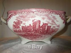 Soup Tureen, Johnson Brothers Old Britian Castles Pink, 1883 stamp, Lot P16