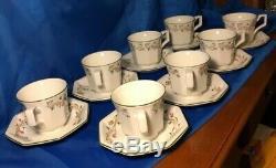 Tea Set Eternal Beau by JOHNSON BROTHERS Teapot, 8 Cups & Saucers, Creamer &