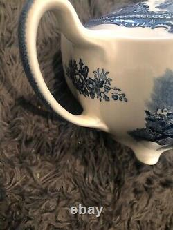 Teapot & Lid in Old Britain Castles Blue (Made in England) by Johnson Brothers