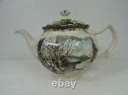 The Friendly Village by Johnson Brothers Tea Pot w Lid Sugar Maples