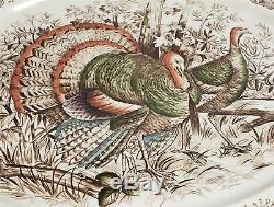 ThriftCHI Johnson Bros Windsor Ware Wild Turkeys Polychromatic Serving Platter