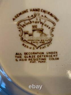 VINTAGE- 42 SETS Johnson Bros, Windsor Ware Dover Brown China, England