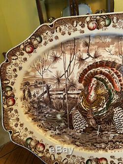 VINTAGE Johnson Brother His MajestyTurkey/meat platter. X Cond 20 Large