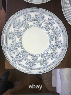 VTG Johnson Brothers Blue & White Transfeware Dinnerware England Haverhill 75pcs