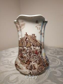 VTG Johnson Brothers Olde English Countryside Brown 24 oz Pitcher