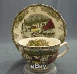 Vintage 24 Piece Johnson Bros. England FRIENDLY VILLAGE Pattern Tea Set for 6