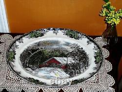 Vintage JOHNSON BROS England Friendly Village Cookie Dish Fruit Bowl Porcelain