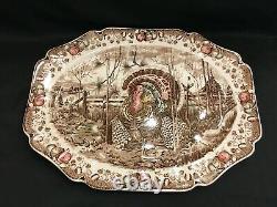 Vintage Johnson Bros England His Majesty Huge Oval Turkey Platter