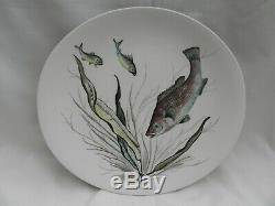 Vintage Johnson Bros FISH LARGE FISH PLATTER, 4 X PLATES & BOAT, Hand Engraving