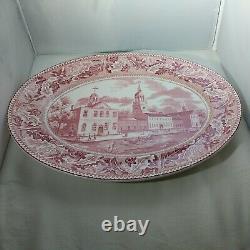 Vintage Johnson Bros. Historic America Independence Hall Transferware Platter