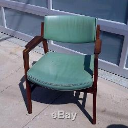 Vintage Johnson Bros Mid-Century Leather Walnut Danish Modern Arm Chair 1960s