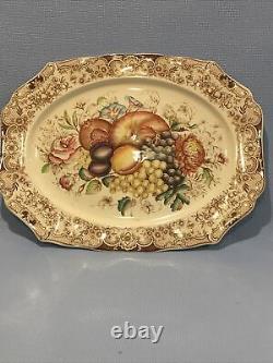 Vintage Johnson Bros Windsor Ware HARVEST FRUIT Large Platter 20