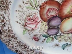 Vintage Johnson Bros Windsor Ware HARVEST FRUIT Large Platter 20 1/4