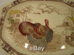 Vintage Johnson Brothers Barnyard King Large Turkey Platter