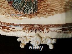 Vintage Johnson Brothers Barnyard King Large Turkey Platter 20.5 Thanksgiving