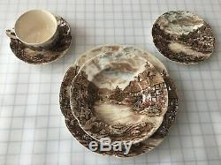 Vintage Johnson Brothers China Old English Countryside 56 Pc Service For 8