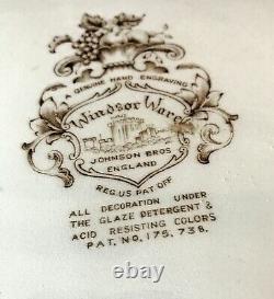 Vintage Johnson Brothers England Windsor Wave HARVEST FRUIT PLATTER 20