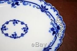 Vintage Johnson Brothers Flow Blue Oxford Fine English China 14 Serving Platter