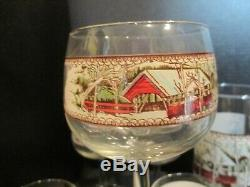 Vintage Johnson Brothers Friendly Village 16 Piece Barware Pitcher Goblets More