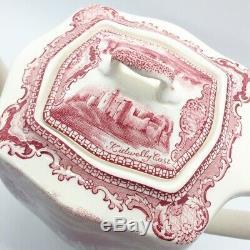 Vintage Johnson Brothers Old Britain Castles Pink Tall Tea Pot, England