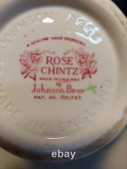 Vintage Johnson Brothers Rose Chintz English Teapot Made in England Cottagecore