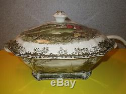 Vintage Johnson Brothers The Friendly Village XLarge Soup Tureen with Ladle