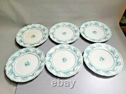 Vintage Rare Find Johnson Bros Blue Transferware Raleigh England Plate set of 6