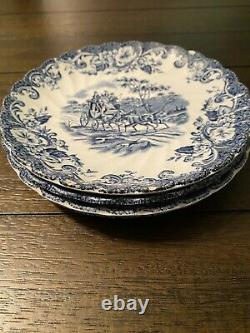 Vintage Royal Stafford Johnson Brothers Coaching Scenes 36 piece Dinnerware