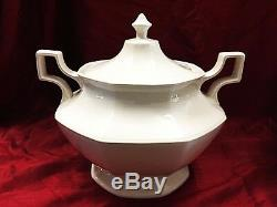 Vintage Soup Tureen Johnson Brothers Heritage White Soup Tureen Lid Rare Large