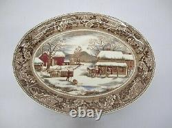 Vtg Johnson Brothers Home Thanksgiving Historic America Frozen Up Turkey Platter
