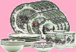 Wedgwood Johnson Brothers Friendly Village 28-piece Dinnerware Set Service for 4