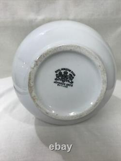 White Royal Ironstone Pitcher Johnson Bros. England c 1890 Large 12 VTG Cottage