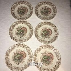Wild Turkey WINDSOR WARE 10.75 Dinner Plate Johnson Bros SET 6 PRISTINE Vintage