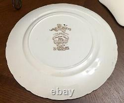 Wild Turkey Windsor Ware Johnson Brothers Platter And 8 Plate, Great Condition