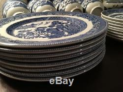 Willow Blue dinner set made in England Earthenware by Johnson Brothers