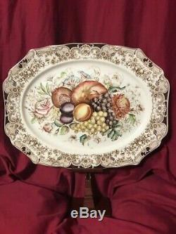 Windsor Ware, Johnson Bros. England, Harvest Fruit 20.25 Serving Platter, 1960s
